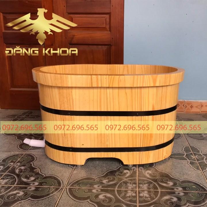 Bồn tắm gỗ thông mini
