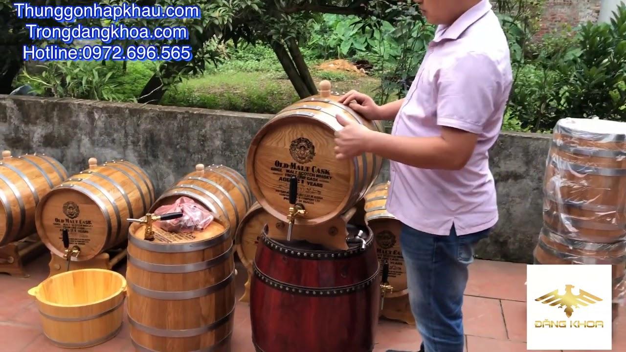 Cách ủ rượu trong thùng gỗ sồi