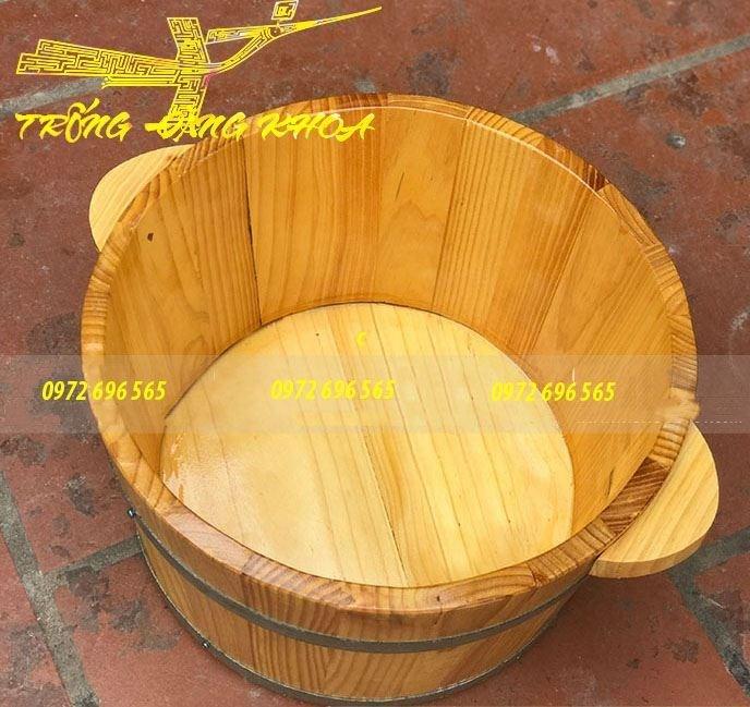 Chậu ngâm chân gỗ Thông – Nhật